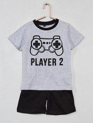 pyjama-court-bicolore-gris-garcon-ww252_1_fr1